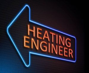 Heating engineer concept.